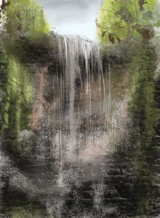Roughtinglinn Waterfall - Catherine Dunn Art
