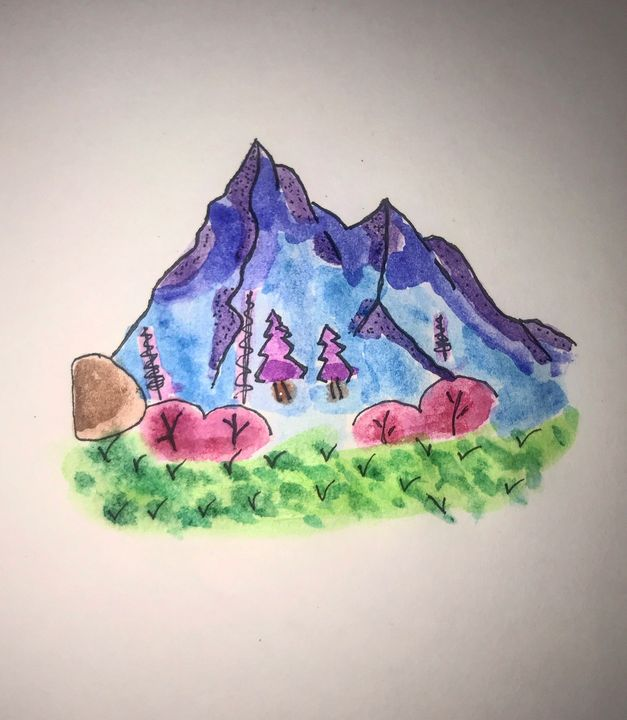 Watercolor Mountains - Road Trippin Artist
