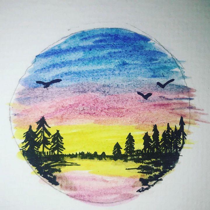 Lake Reflection - Road Trippin Artist