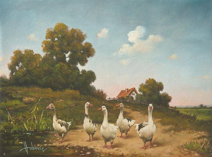 geese - my paintings