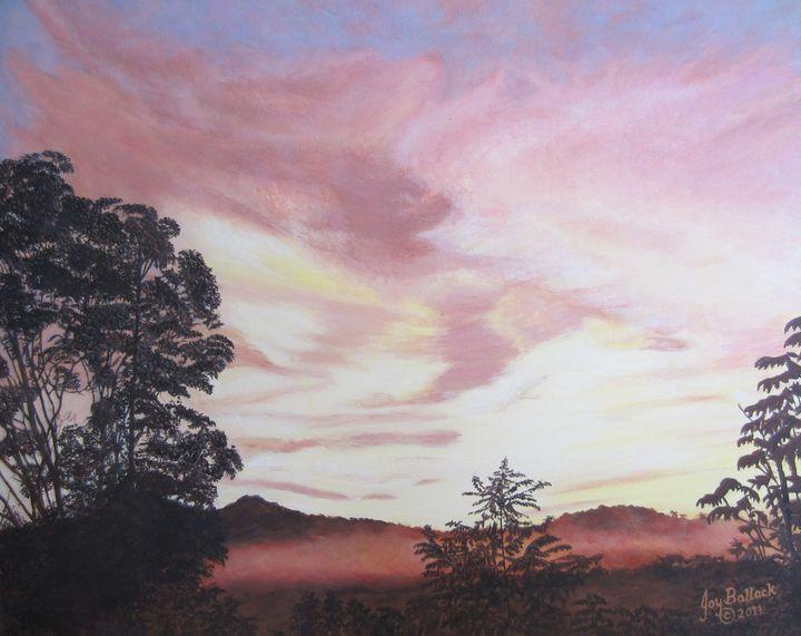 Smokey Mountain Sunset-1 - JoyBallackFineArt