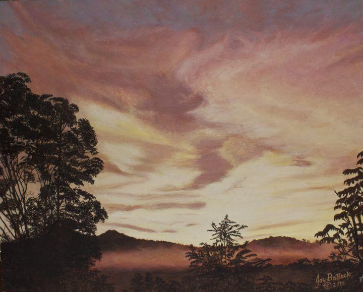 Smokey Mountain Sunset - JoyBallackFineArt