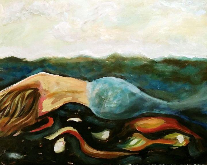 'sleep in' - Lucie Walker's Happy Accident Art