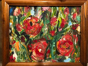 Study of Red Roses