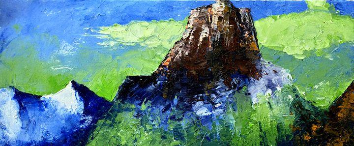 yay mountains - Paintings by Yuri Pinzon