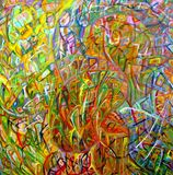 Abstract art, oil painting