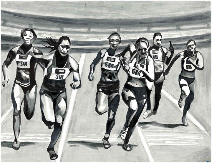 Athletes - Poonam Singh's Art