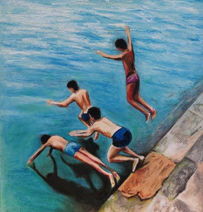 Summer Boys - Poonam Singh's Art