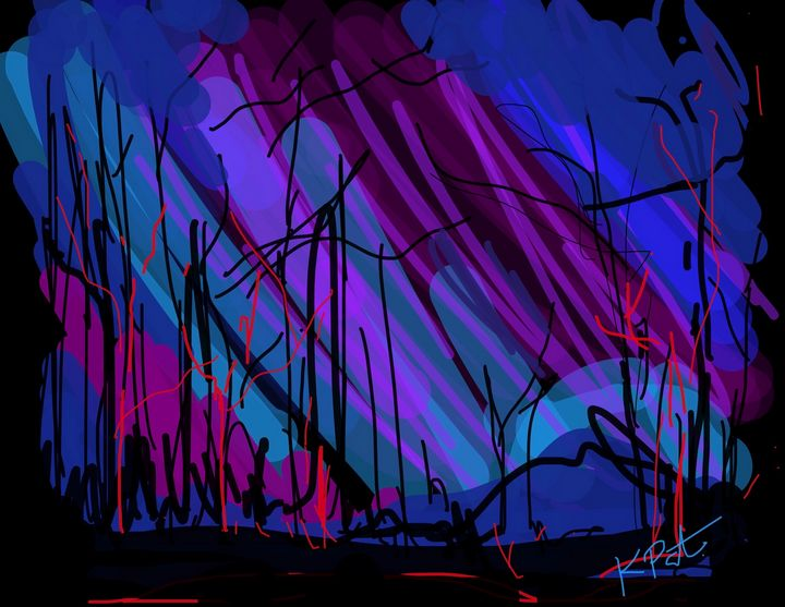 Northern lights - Kenny P. Doodle Art