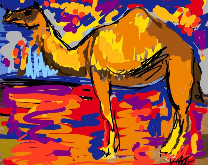 The Camel - Kenny P. Doodle Art