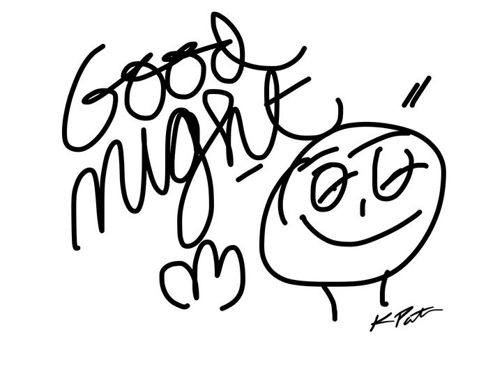 Doodle Good Night - Kenny P. Doodle Art