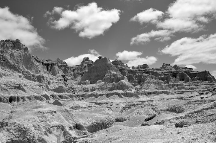 S.D. Badlands II B&W - Lubit Arts