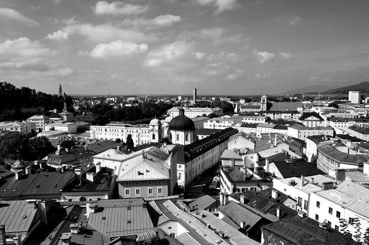 Salzburg Cityscape B&W - Lubit Arts