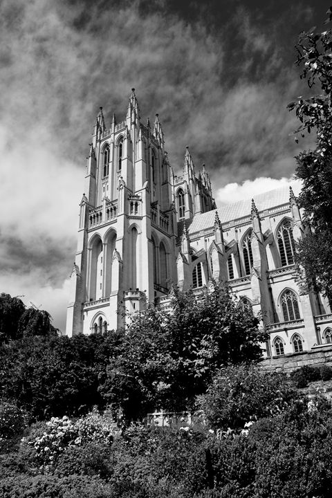 National Cathedral II B&W - Lubit Arts