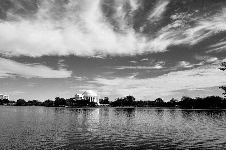 Jefferson Memorial II B&W - Lubit Arts