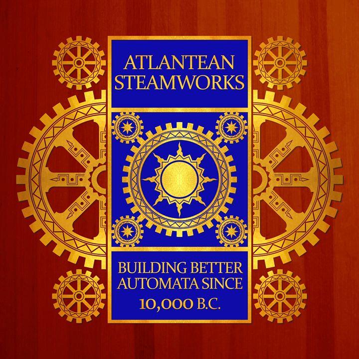 Atlantean Steamworks - Gold and Blue - AtlanteanArts