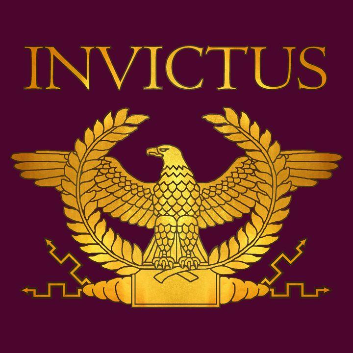 Invictus Golden Eagle on Purple - AtlanteanArts