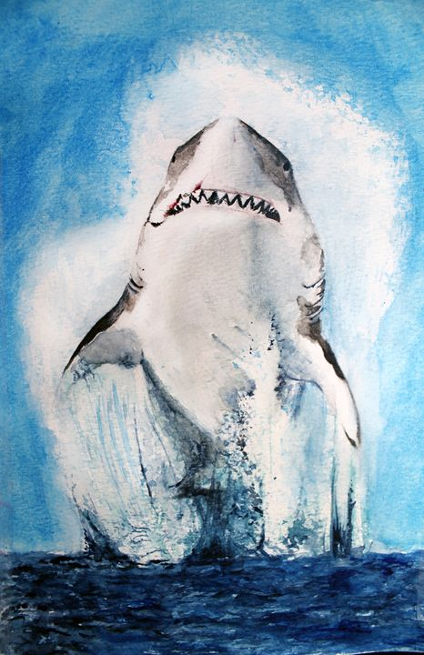 Shark Jumping - Sara XXII - Paintings & Prints, Animals