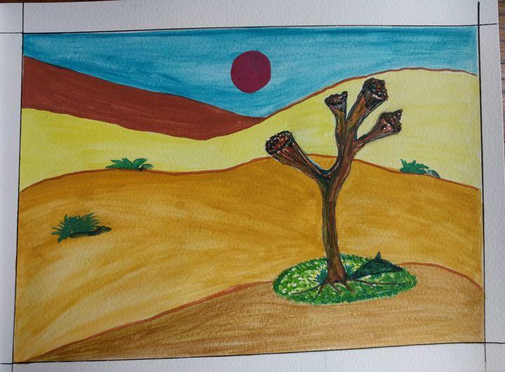 Abstract, Landscape, Watercolor - DevArt
