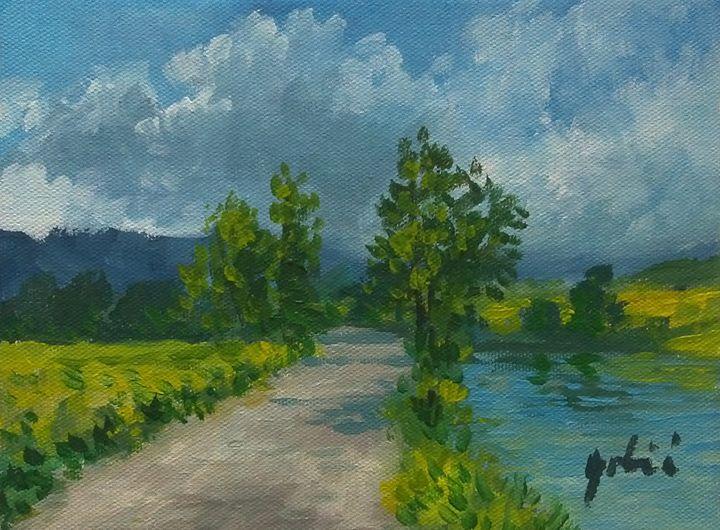 Road and river - AlenGrbicFineArt