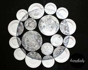 Moon wall art. Plate collage