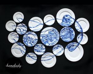 Jellyfish plate collage