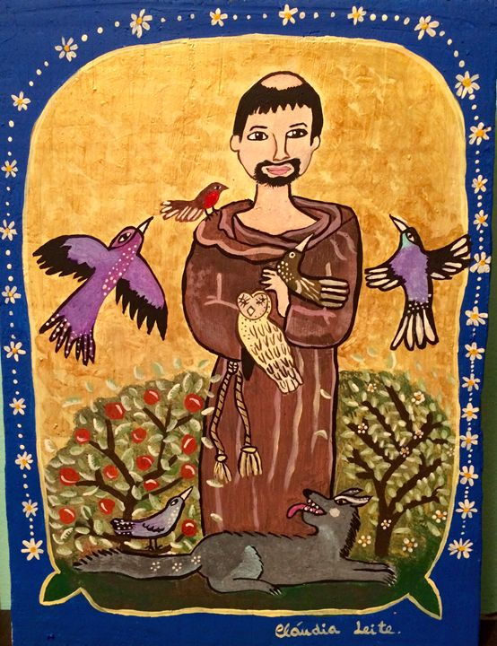 Saint Francis and the birds - Cláudia Leite