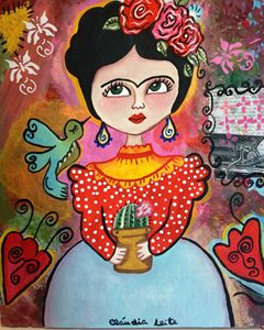 Frida Kahlo and the hummingbird