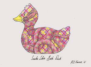 Snake skin Bath Duck