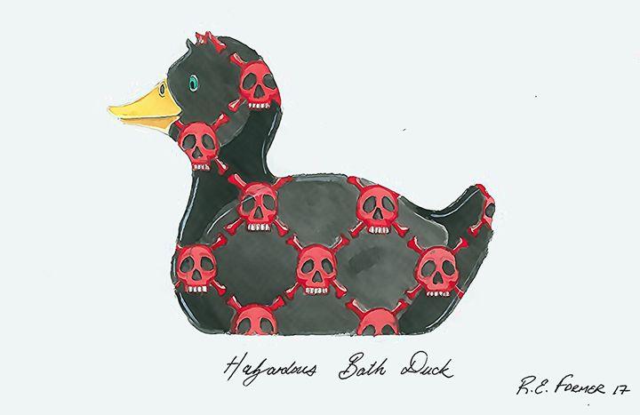 Hazardous Bath Duck - Ralphs Colours