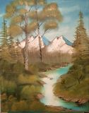Bob Ross Inspired 18x24 oil