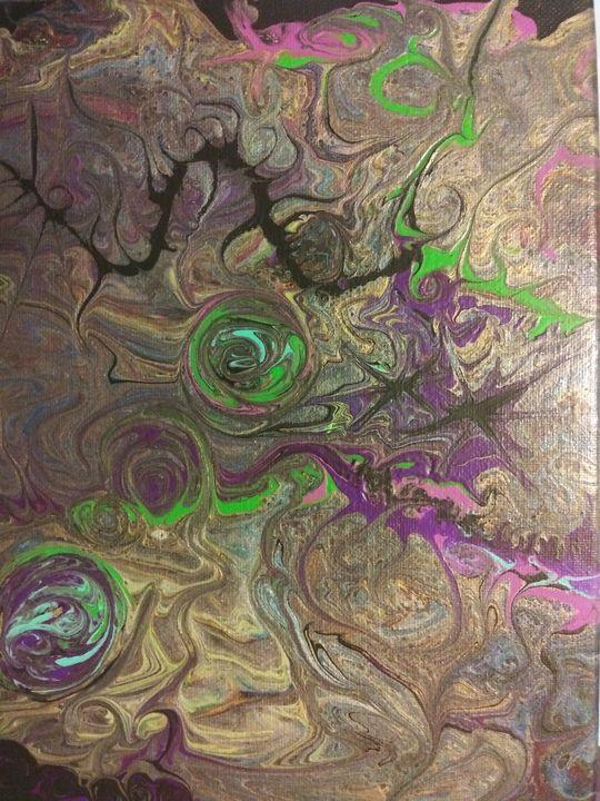Metallic swirls - Kj's Creations