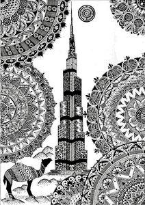 Print Burj Khalifa Mandala