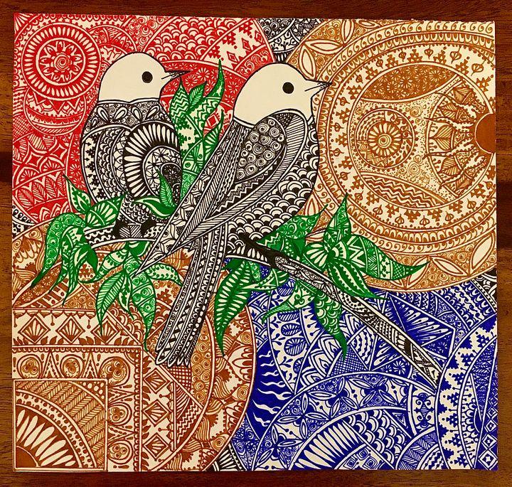 Print Two for joy Mandala - TinartyLilThings