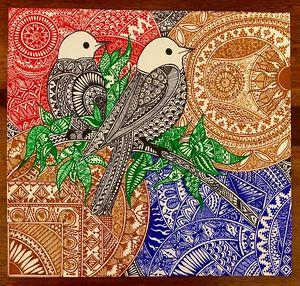 Print Two for joy Mandala
