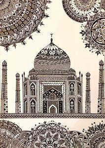 Print Taj Mahal Mandala