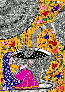 Print Madhubani Mandala Art