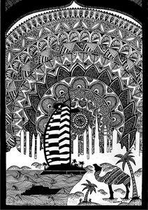 Print Dubai Skyline Mandala Art