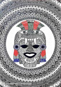 Aztec Mandala Print