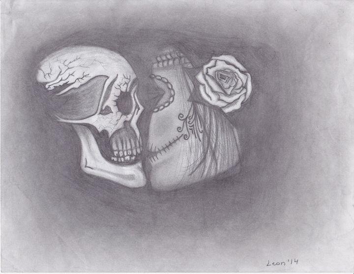 Her & Him Kissing Skulls - R.L. Thomason