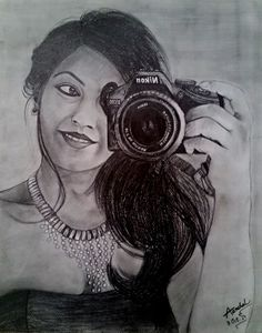 Selfie Pencil Art
