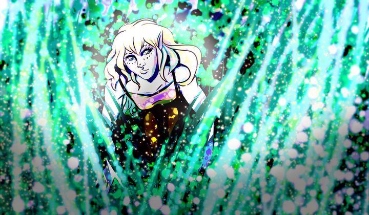A wild elven girl appeared - ShezArt