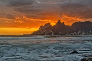 Sunset at Arpoador, Ipanema Beach