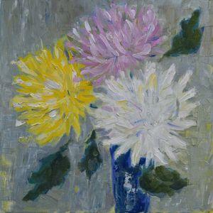 Three Chrysanthemum flowers - Elena Zapassky