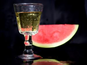 Watermelon and white wine