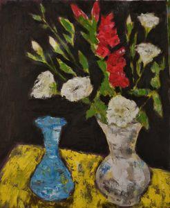Red gladiolus - Elena Zapassky