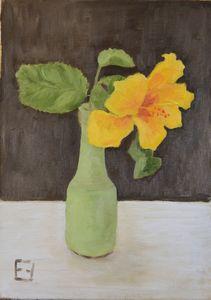 Yellow hibiscus - Elena Zapassky