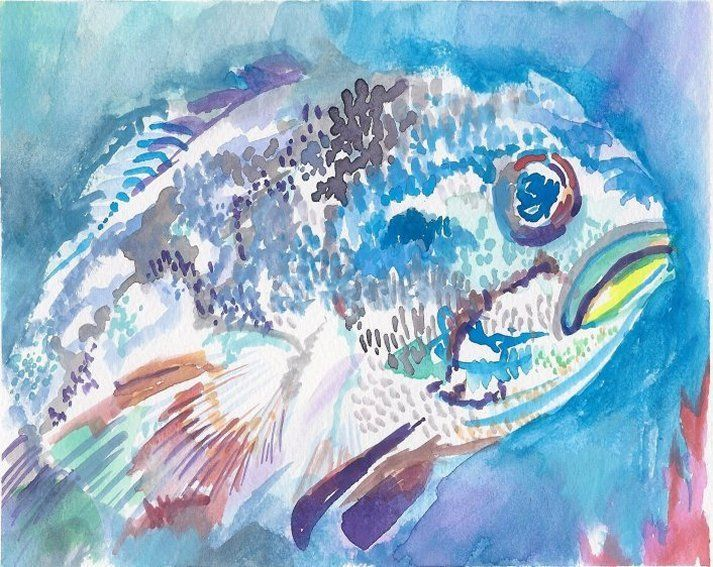 Grumpy Fish Profile - PaintSarahPaint