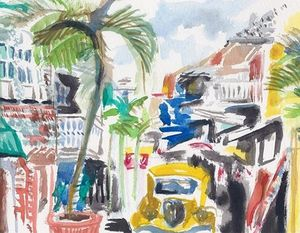 Philipsburg St Maarten Alleyway - PaintSarahPaint