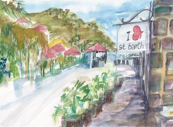 I Love St Barth - PaintSarahPaint